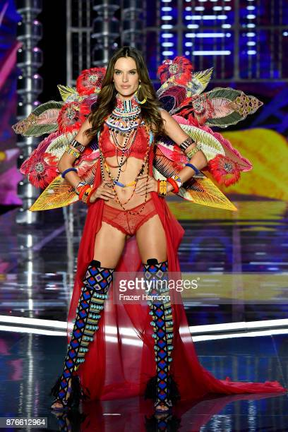 Victoria's Secret Angel Alessandra Ambrosio walks the runway during the 2017 Victoria's Secret Fashion Show In Shanghai at MercedesBenz Arena on...