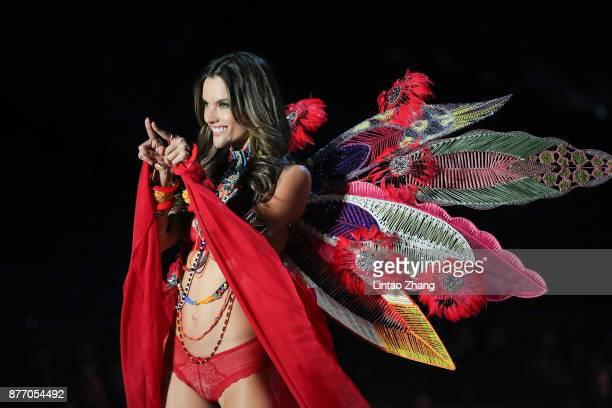 Victoria's Secret Angel Alessandra Ambrosio walks the runway for Swarovski Sparkles In the 2017 Victoria's Secret Fashion Show at MercedesBenz Arena...
