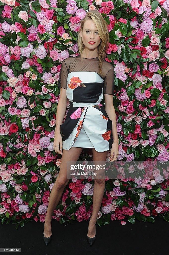 Victoria's Secret Angel Behati Prinsloo attends the Victoria by Victoria's Secret Fragrance launch event at 620 Loft & Garden on July 18, 2013 in New York City.