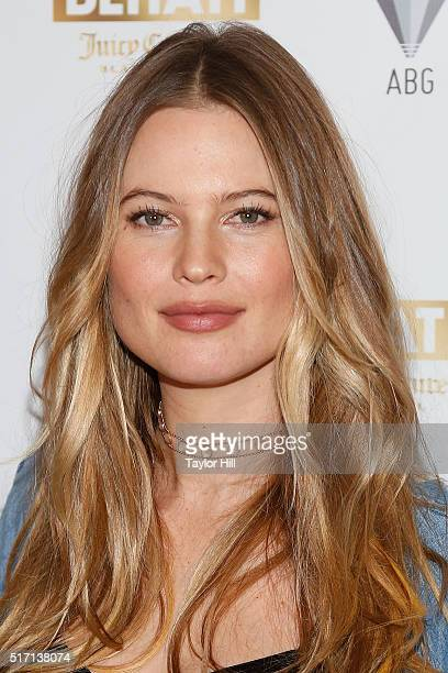 Victoria's Secret Angel Behati Prinsloo celebrates the launch of Behati Juicy Couture Black Label at Dream Downtown on March 23 2016 in New York City
