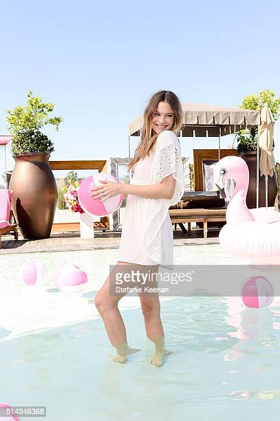 Victoria's Secret Angel Behati Prinsloo launches all new Victoria's Secret Swim Collection and celebrates the 2016 Swim Special at SLS Hotel on March...