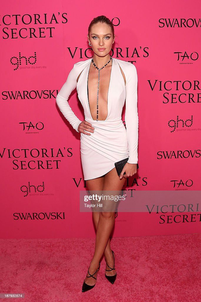 Victoria's Secret Angel Candice Swanepoel attends the after party for the 2013 Victoria's Secret Fashion Show at TAO Downtown on November 13, 2013 in New York City.
