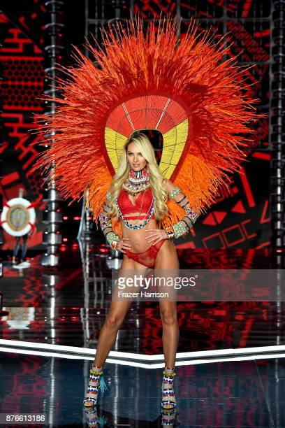 Victoria's Secret Angel Candice Swanepoel walks the runway during the 2017 Victoria's Secret Fashion Show In Shanghai at MercedesBenz Arena on...