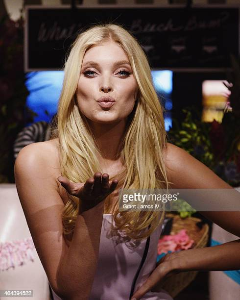Victoria's Secret Angel Elsa Hosk celebrates the sexiest Pushups and The Victoria's Secret Swim Special at Victoria's Secret Herald Square on...