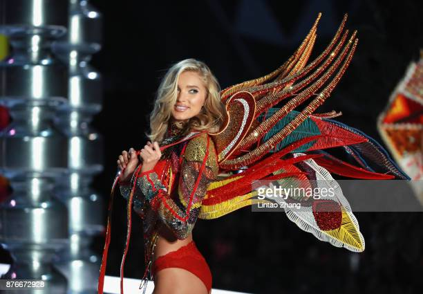 Victoria's Secret Angel Elsa Hosk walks the runway for Swarovski Sparkles In the 2017 Victoria's Secret Fashion Show at MercedesBenz Arena on...