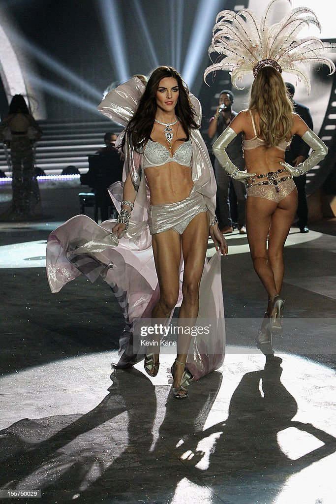 Victoria's Secret Angel Hilary Rhoda walks the runway during the 2012 Victoria's Secret Fashion Show at the Lexington Avenue Armory on November 7, 2012 in New York City.