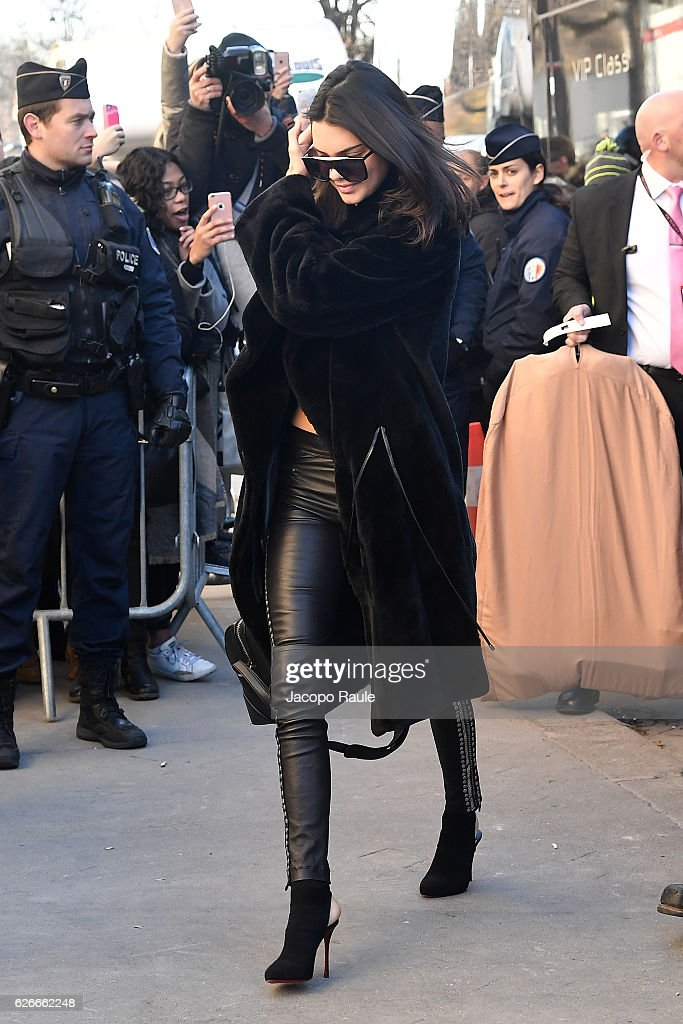 victorias-secret-angel-kendall-jenner-is-seen-arriving-at-le-grand-picture-id626662248