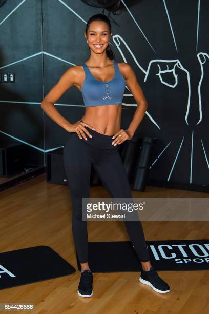 Victoria's Secret Angel Lais Ribeiro attends 'Train Like A Victoria's Secret Angel' at 305 Fitness on September 26 2017 in New York City