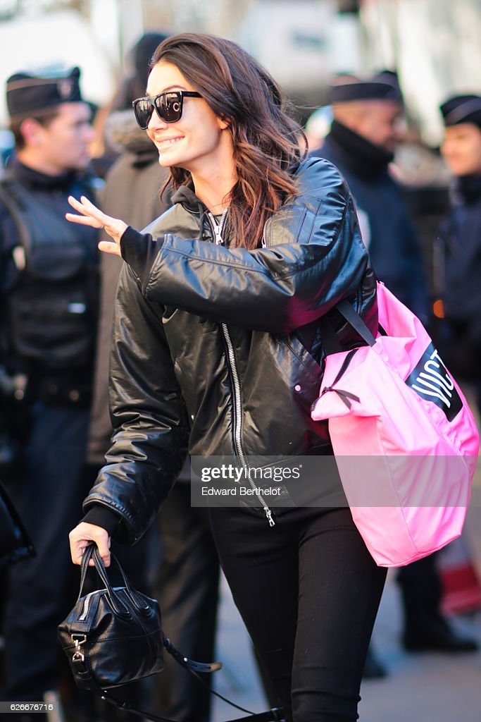 victorias-secret-angel-lily-aldridge-is-seen-arriving-at-le-grand-picture-id626676716
