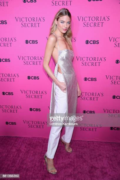 Victoria's Secret Angel Martha Hunt attends as Victoria's Secret Angels gather for an intimate viewing party of the 2017 Victoria's Secret Fashion...