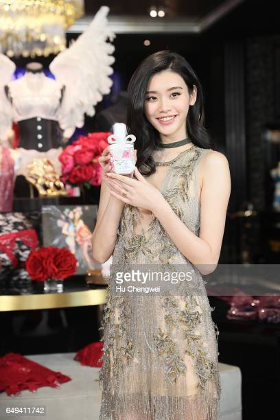 Victoria's Secret Angel Ming Xi attends the Grand Opening of Victoria's Secret Shanghai Flagship Store on March 8 2017 in Shanghai China