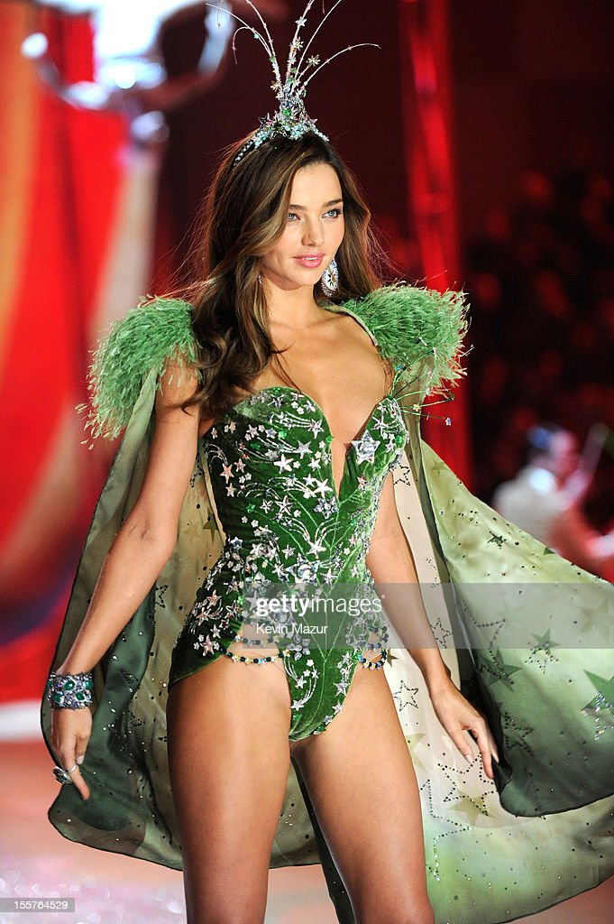 Victoria's Secret Angel <a gi-track='captionPersonalityLinkClicked' href=/galleries/search?phrase=Miranda+Kerr&family=editorial&specificpeople=5714330 ng-click='$event.stopPropagation()'>Miranda Kerr</a> walks the runway during the 2012 Victoria's Secret Fashion Show at the Lexington Avenue Armory on November 7, 2012 in New York City.