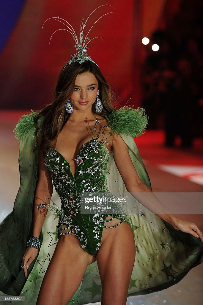 Victoria's Secret Angel <a gi-track='captionPersonalityLinkClicked' href=/galleries/search?phrase=Miranda+Kerr&family=editorial&specificpeople=5714330 ng-click='$event.stopPropagation()'>Miranda Kerr</a> walks the runway during the Victoria's Secret 2012 Fashion Show on November 7, 2012 in New York City.