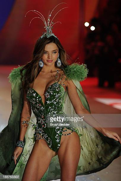 Victoria's Secret Angel Miranda Kerr walks the runway during the Victoria's Secret 2012 Fashion Show on November 7 2012 in New York City