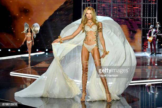 Victoria's Secret Angel Romee Strijd walks the runway during the 2017 Victoria's Secret Fashion Show In Shanghai at MercedesBenz Arena on November 20...