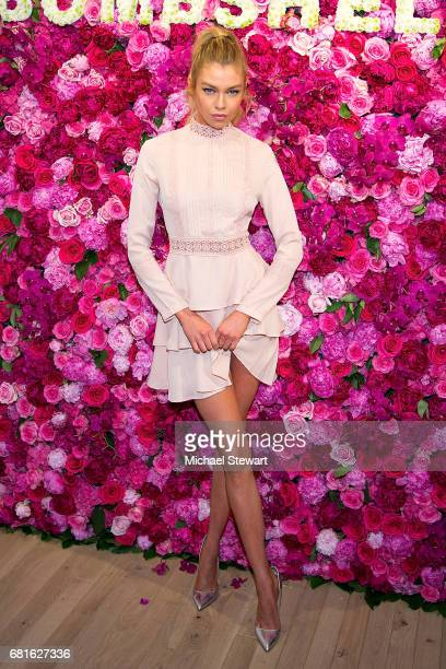 Victoria's Secret Angel Stella Maxwell attends Victoria's Secret celebrates Bombshell Fragrance at Victoria's Secret Fifth Ave on May 10 2017 in New...