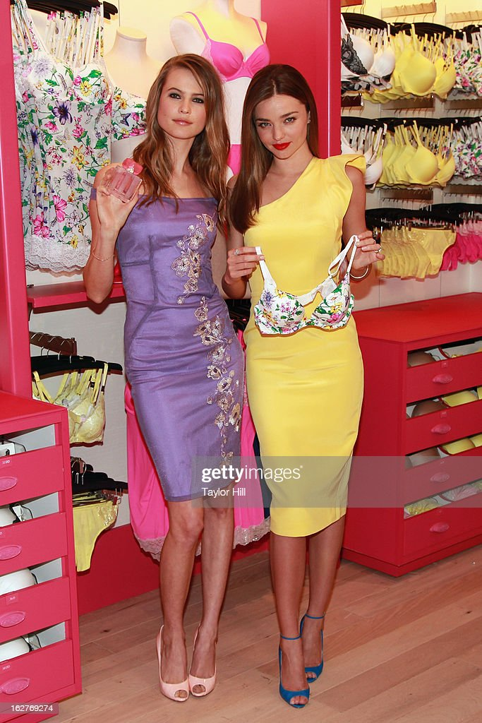 Victoria's Secret Angels <a gi-track='captionPersonalityLinkClicked' href=/galleries/search?phrase=Behati+Prinsloo&family=editorial&specificpeople=4319064 ng-click='$event.stopPropagation()'>Behati Prinsloo</a> and <a gi-track='captionPersonalityLinkClicked' href=/galleries/search?phrase=Miranda+Kerr&family=editorial&specificpeople=5714330 ng-click='$event.stopPropagation()'>Miranda Kerr</a> attend the launch of the Victoria's Secret Angels Fabulous Collection at Victoria's Secret Herald Square on February 26, 2013 in New York City.