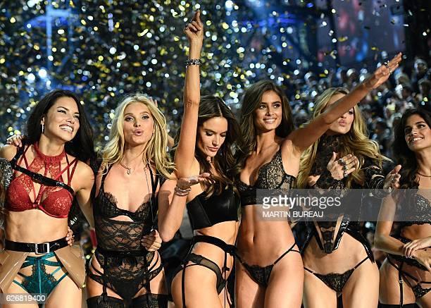TOPSHOT CORRECTION Victoria's Secret Angels Brazilian model Adriana Lima Swedish model Elsa Hosk Brazilian model Alessandra Ambrosio US model Taylor...
