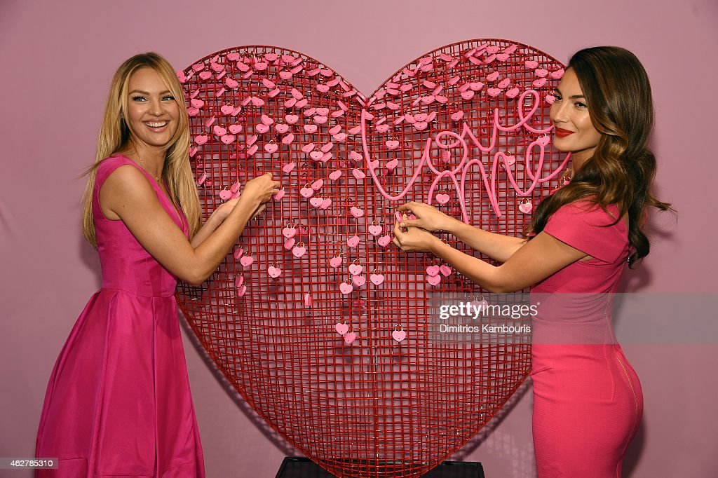 Victoriau0027s Secret Angels Candice Swanepoel And Lily Aldridge Celebrate  Valentineu0027s Day InStore At Victoriau0027s Secret Herald