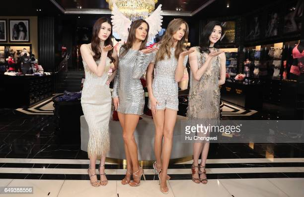 Victoria's Secret Angels He Sui Alessandra Ambrosio Josephine Skriver and Xi Mengyao attend the Grand Opening Of Victoria's Secret Shanghai Flagship...