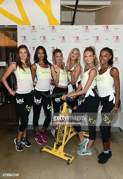 Victoria's Secret Angels Jac Jagaciak Lais Ribeiro Martha Hunt Elsa Hosk Romee Strijd and Jasmine Tookes attend the Victoria's Secret Angels' Charity...
