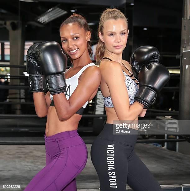 Victoria's Secret Angels Jasmine Tookes and Josephine Skriver at Dogpound on November 2 2016 in New York City