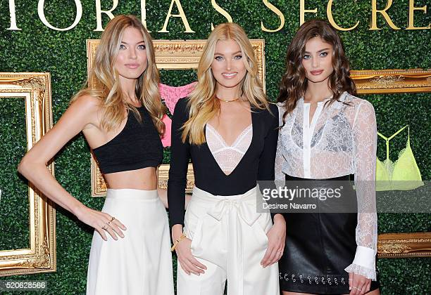 Victoria's Secret Angels Martha Hunt Elsa Hosk and Taylor Hill attend Victoria's Secret Bralette Collection Launch at Victoria's Secret Herald Square...