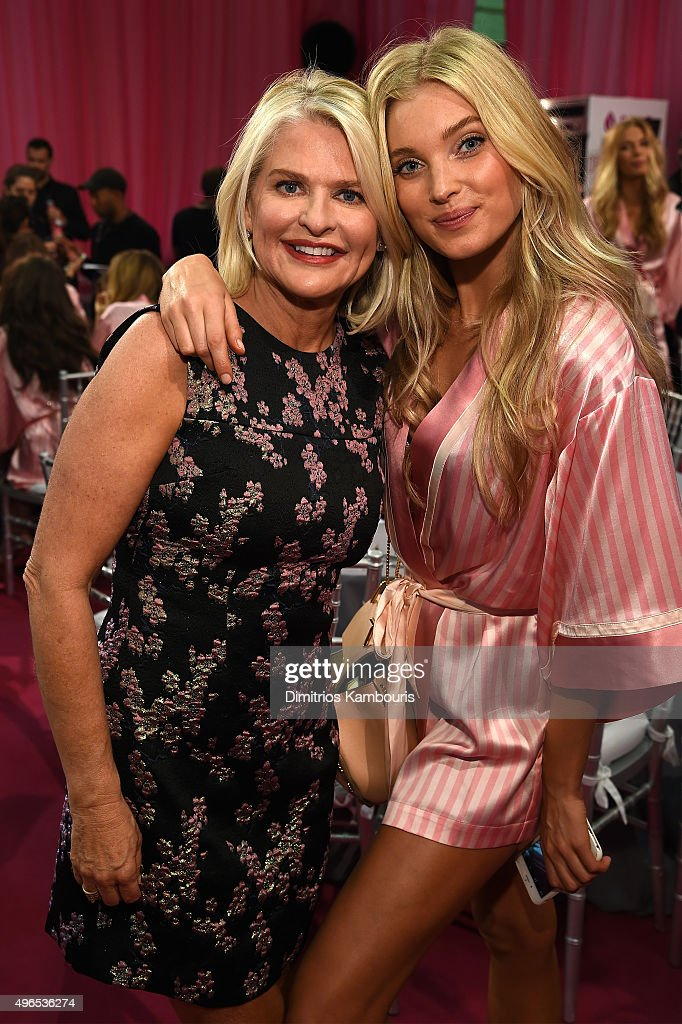 Victoria's Secret CEO Sharen Turney and Lily Donaldson are seen backstage before the 2015 Victoria's Secret Fashion Show at Lexington Avenue Armory...