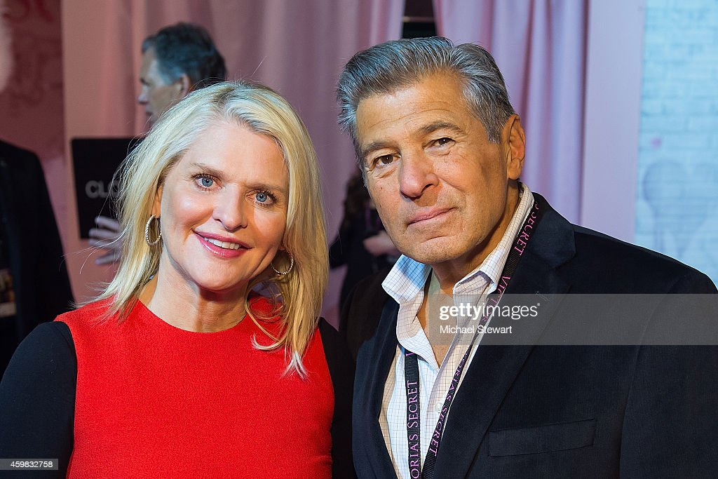 Victoria's Secret CEO Sharen Turney and President and Chief Marketing Officer of Victoria's Secret Ed Razek backstage at the annual Victoria's Secret...