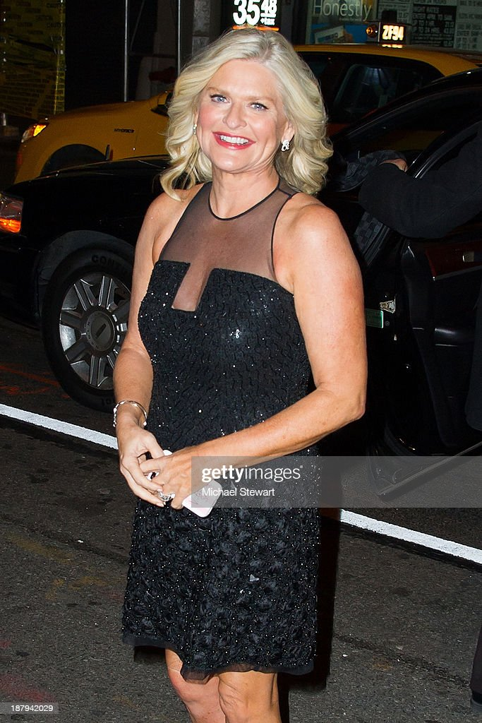 Victoria's Secret CEO Sharen Turney arrives at the 2013 Victoria's Secret Fashion Show after party at Tao Downtown on November 13 2013 in New York...