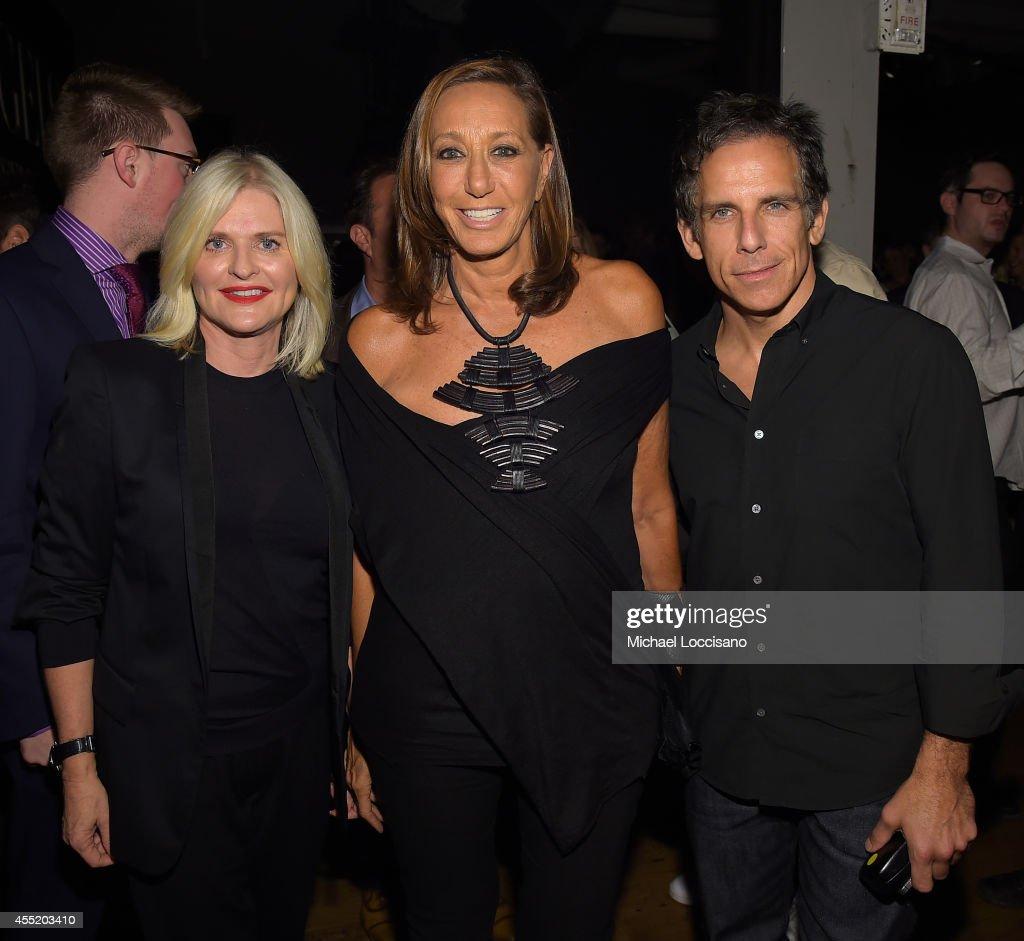 Victoria's Secret CEO Sharen Turney designer Donna Karan and actor Ben Stiller attend Russell James' 'Angels' book launch hosted by Victoria's Secret...