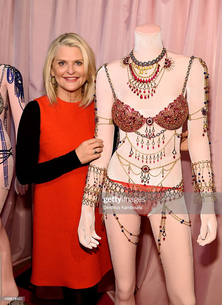 Victoria's Secret CEO Sharen Turney poses backstage prior the 2014 Victoria's Secret Fashion Show on December 2 2014 in London England
