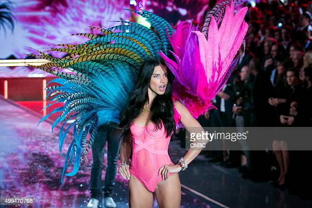 Victoria's Secret Fashion Show Pictured Model Adriana Lima walks the runway during the 2015 Victoria's Secret Fashion Show in New York City on...