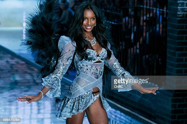 Victoria's Secret Fashion Show Pictured Model Jasmine Tookes walks the runway during the 2015 Victoria's Secret Fashion Show in New York City on...