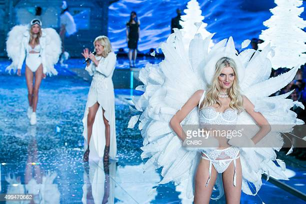 Victoria's Secret Fashion Show Pictured Model Lily Donaldson walks the runway while Ellie Goulding performs during the 2015 Victoria's Secret Fashion...