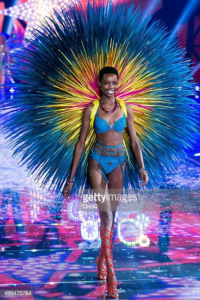 Victoria's Secret Fashion Show Pictured Model Maria Borges walks the runway during the 2015 Victoria's Secret Fashion Show in New York City on...