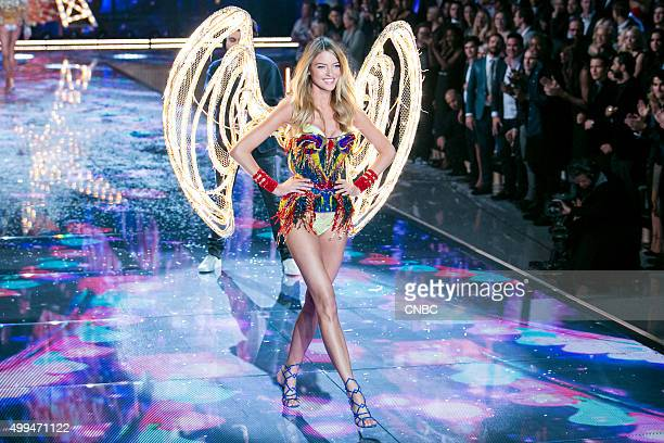 Victoria's Secret Fashion Show Pictured Model Martha Hunt walks the runway during the 2015 Victoria's Secret Fashion Show in New York City on...