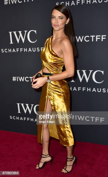 Victoria's Secret model Adriane Lima attends the 5th Annual IWC Schaffhausen Tribeca Film Festival 'For The Love Of Cinema' Gala at Spring Studios on...