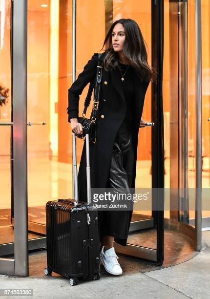 Victoria's Secret model Cindy Bruna leaves for Shanghai to walk the 2017 Victoria's Secret Runway on November 14 2017 in New York City