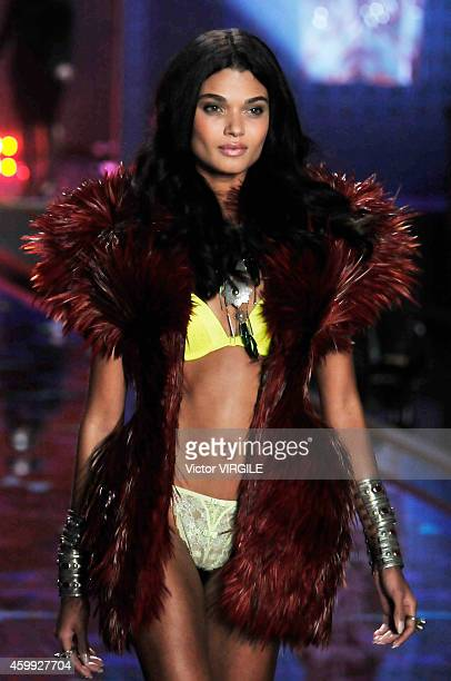 Victoria's Secret model Daniela Braga walks the runway during the 2014 Victoria's Secret Fashion Show at Earl's Court exhibition centre on December 2...