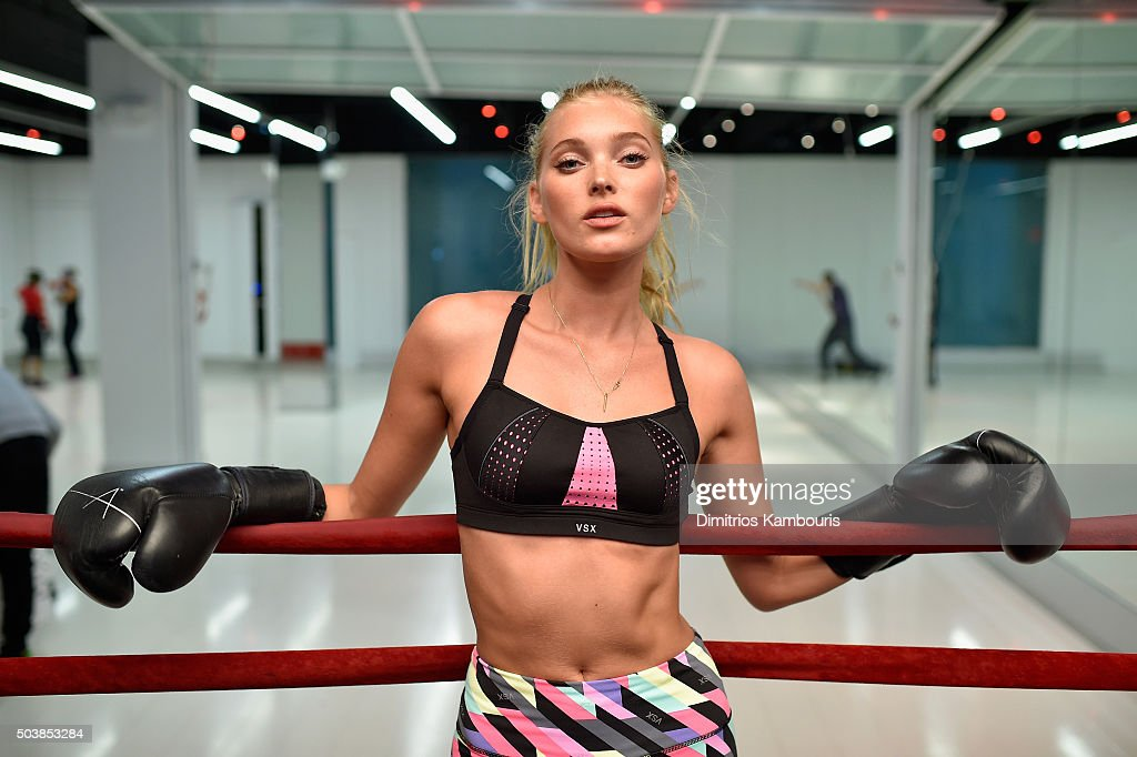Victoria's Secret Models Martha Hunt and Elsa Hosk Boxing