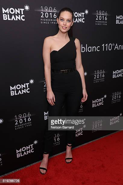 Victoria's Secret Model Emily DiDonato attends the Montblanc 110 Year Anniversary Gala Dinner on April 5 2016 in New York City