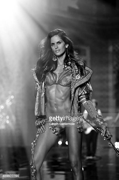 Victoria's Secret model Izabel Goulart walks the runway during the 2014 Victoria's Secret Fashion Show at Earl's Court exhibition centre on December...