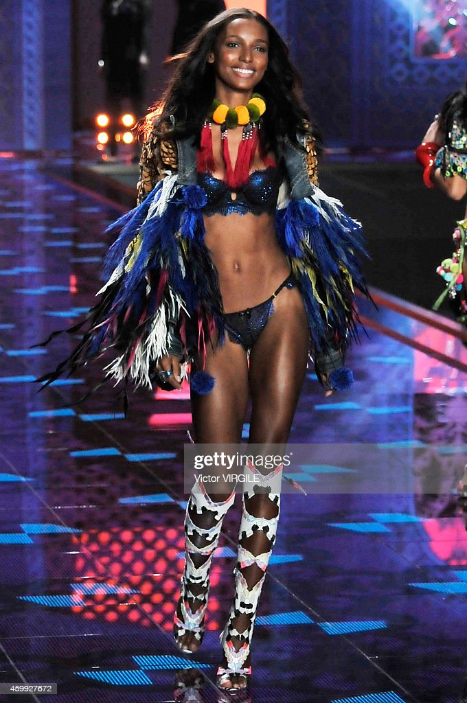 Victoria's Secret model Jasmine Tookes walks the runway during the 2014 Victoria's Secret Fashion Show at Earl's Court exhibition centre on December 2, 2014 in London, England.