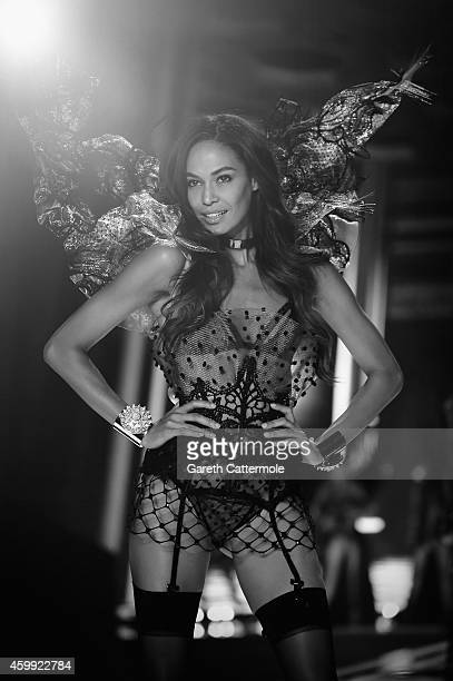 Victoria's Secret model Lais Ribeiro walks the runway during the 2014 Victoria's Secret Fashion Show at Earl's Court exhibition centre on December 2...