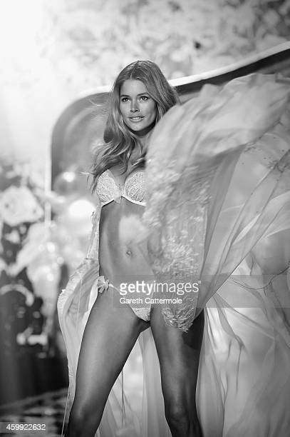 Victoria's Secret model Stella Maxwell walks the runway during the 2014 Victoria's Secret Fashion Show at Earl's Court exhibition centre on December...