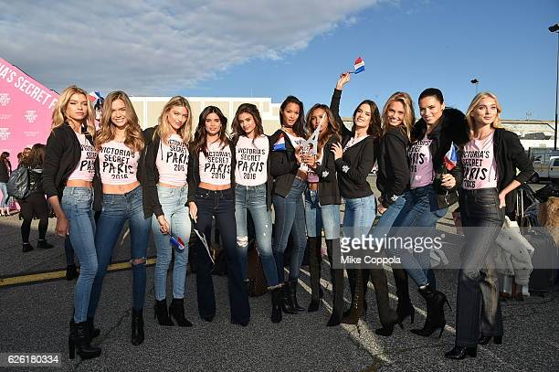 Victoria's Secret models Josephine Skriver Martha Hunt Sara Sampaio Taylor Hill Lais Ribeiro Jasmine Tookes Alessandra Ambrosio Romee Strijd Adriana...