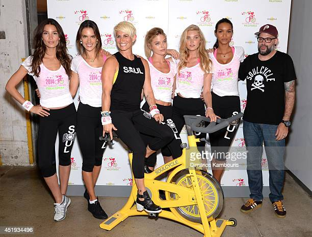 Victoria's Secret models Lily Aldridge Alessandra Ambrosio Martha Hunt Elsa Hos Lais Ribeiro Melanie Griffith and DJ Prestige attend Victoria's...