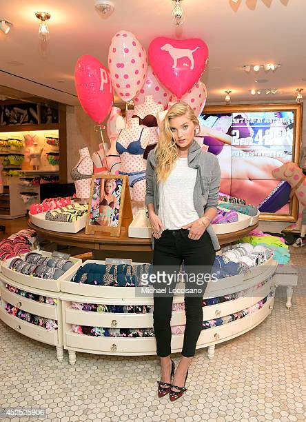 Victoria's Secret PINK Launches The Wear Everywhere Bra With PINK model Elsa Hosk at Victoria's Secret Herald Square on July 22 2014 in New York City