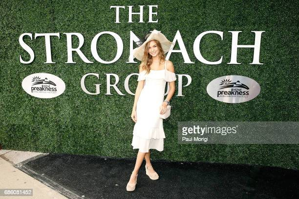 Victoria's Secret Super Model Josephine Skriver arrives at The Stronach Group Owner's Chalet at 142nd Preakness Stakes at Pimlico Race Course on May...